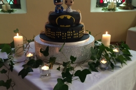 Fun Batman Wedding Cake