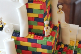 Lego Bricked Square Wedding Cake